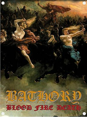 Bathory 'Blood Fire Death' Flag - NEW & OFFICIAL!