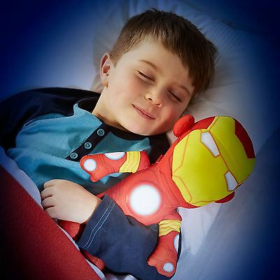 Marvel Avengers Iron Man Go Glow Light Up Soft Pal Kids Bedroom Lighting New