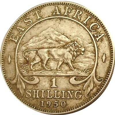 East Africa 1 one shilling 1950 KM#10 George VI (3416)