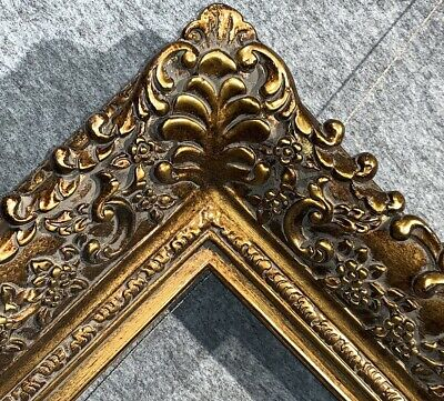 """4.75"""" Picture Frame antique Gold Ornate photo museum Oil Painting Wood 256G"""