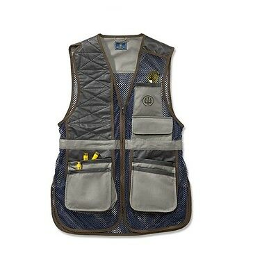 Beretta Two Tone Clays Vest Navy Grey GT08 Size XX Large Make an Offer