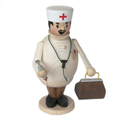 Standing Doctor Wooden German Guy Made In Germany Incense Burner Smoker