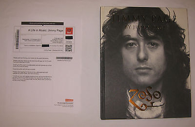 JIMMY PAGE Ticket/Book stamped EXCLUSIVELY at Cadogan Hall 10/15/14 Led Zeppelin