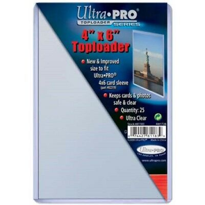 25 Ultra Pro 4x6 Toploaders Top Loaders Postcard Photo Holders Storage 4x6