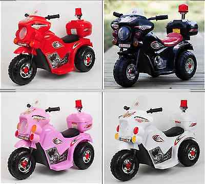 Hot Kids Toy 3 wheel Electric Ride On Police Motorbike Motorcycle Motor Bike Car