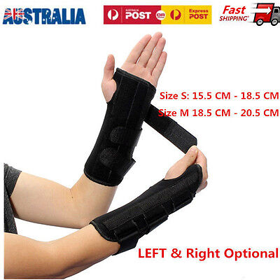 Wrist Splint Brace Protection Support Strap Carpel Tunnel Pain Relief Left/Right