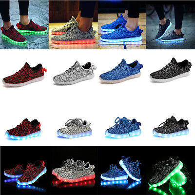 Unisex LED Light up Lace Up Child Adult Luminous Sportswear Sneaker Casual Shoes