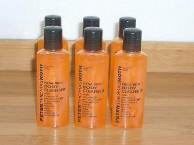 Peter Thomas Roth Mega Rich Body Cleanser Wash 1oz Each - Lot of 6 Travel Size