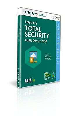 Kaspersky Total Internet Security 2016 Multi Device 10 Users 1 Year Retail DVD