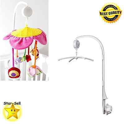 Baby Crib Mobile Bed Bell Holder Arm Bracket Nursery Decor Music Box Infant Toy