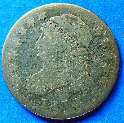 1811 Key Date Capped Bust Dime Fine / Very Fine #2749