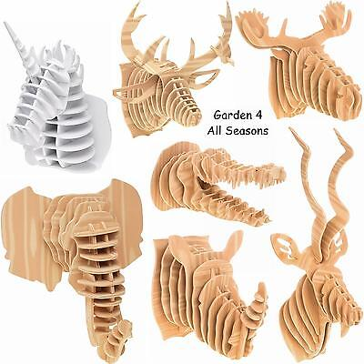 LARGE Animal Head Child Craft Construction Kit Safari Trophy 3D Wall Art Hanging