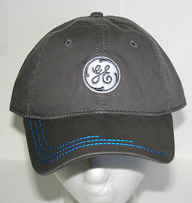 General Electric GE Gray Baseball Cap Hat New NOS OSFM Bulbs trains Turbines