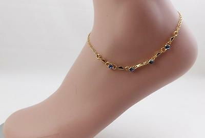 New high quality 14K gold filled blue crystals anklet !
