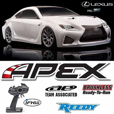 Team Associated 30118 Apex 1/10 Lexus RC F Brushless 4WD Car White RTR W/ Radio