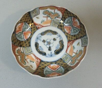 "WONDERFUL 19th C. ANTIQUE JAPANESE ARITA IMARI 6"" BOWL, RECESSED UNGLAZED BASE"