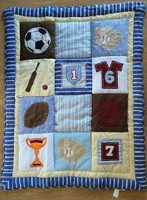 Baby  Reversible Quilt Blanket Comforter Throw NEW All Cotton