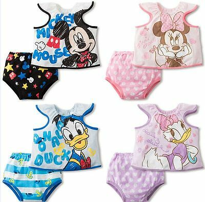 Toddler Baby Boys Girls Pajamas Clothes Cartoon Cotton Underwear Butterfly Sets