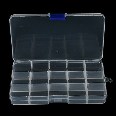 15 Compartments Fishing Fish Hook Bait Lure Box Tackle Storage Container Case RM
