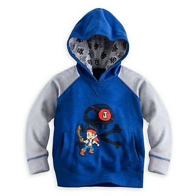 Disney Jake and the Never Land Pirates Pullover Hoodie - Size 3 NWT Boys