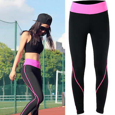 Womens Yoga Sport Apparel Gym Relaxed Running Pants Fitness Workout Trouser S008