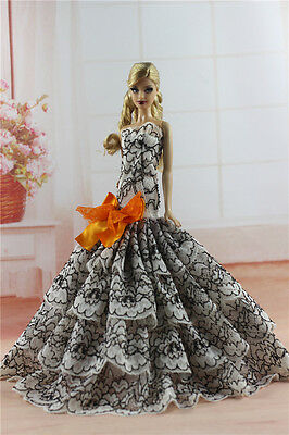 Royalty Mermaid Dress Party Dress/Wedding Clothes/Gown For 11.5in.Doll H02