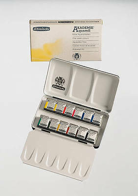 Schmincke Akademie Artists Quality Watercolours -12 Half Pan Set (75 112)