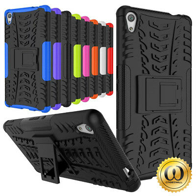 """For Sony Xperia XA Ultra 6"""" Case, Rugged Armor Protective Cover with Kickstand"""