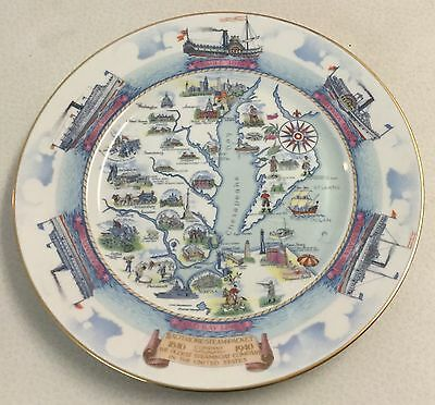 1940 Baltimore Steam Packet Company, Old Bay Line Centennial Plate, Norfolk, Va