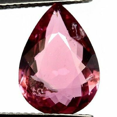 NATURAL PINK TOURMALINE GEMSTONES (13.8 x 9.8 mm) LARGE PEAR CUT! 100% UNTREATED