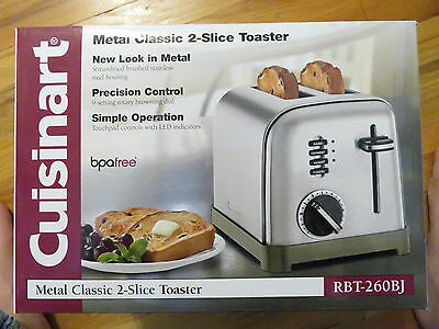 Cuisinart CPT-160 // RBT-260BJ  Metal Classic 2-Slice Toaster, Brushed Stainless