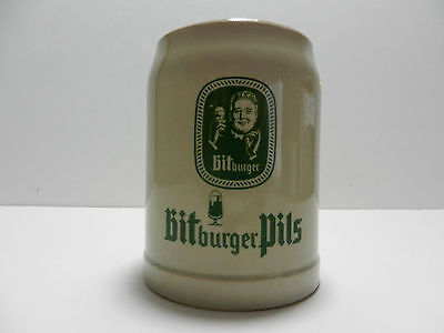 Bitburger Pils 0.4L German Beer Stein Mug Bitburg Germany Brewery