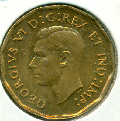 1942 Canada Five Cents Tombac, Choice Brilliant Uncirculated, Great Price!