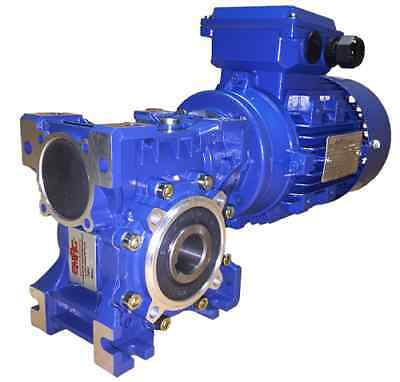 1.1kW Three Phase, Geared Motor, Worm Gearbox