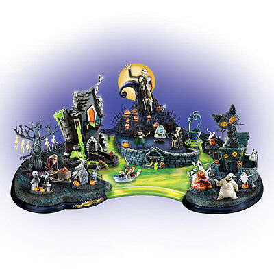 Nightmare Before Christmas Halloweentown Lagoon Home Decor Bradford Exchange