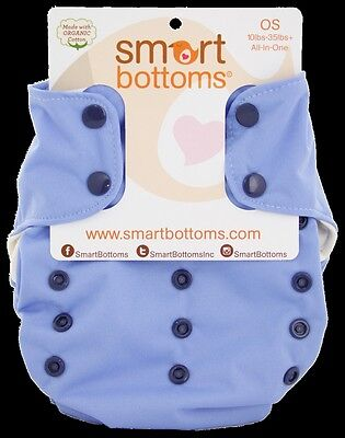 Storm Cloud - Smart Bottoms Smart One Diaper 3.1 - Organic