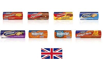 McVitie's Digestive Rich Tea HobNob Ginger Nuts Fruits Sortcake caramel Biscuits