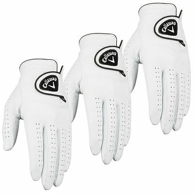 **Pack of 3** Callaway Dawn Patrol 100% Leather Mens Golf Gloves 2017 -Left Hand