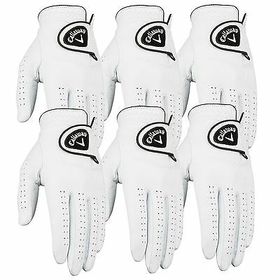 Pack of 6 Callaway Dawn Patrol 100% Leather Mens Golf Glove -Left Hand