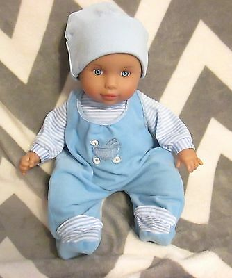 "16"" Sweet Baby Doll Tolly Tots Blue Eyes Cloth Body Traditional EUC"
