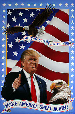 Donald Trump MAKE AMERICA GREAT AGAIN - BETTER THAN EVER 2016 Wall POSTER