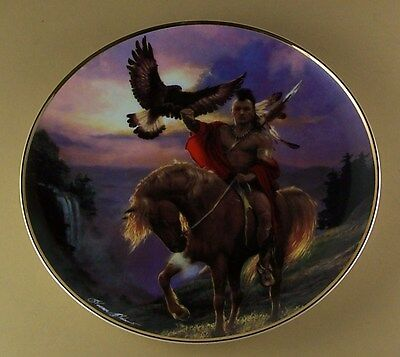 Western Heritage Museum SPIRIT OF THE EAST WIND Plate Native American Indian COA