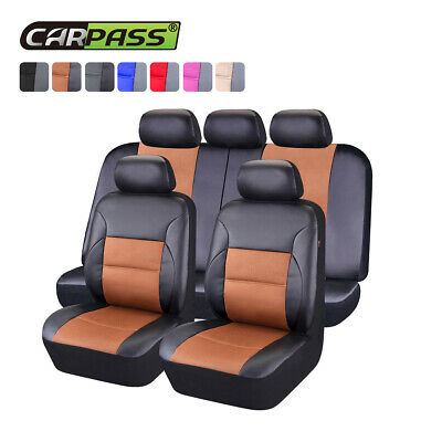 Universal Car Seat covers PU Leather black Fit Honda Mazda Holden Toyota Camry