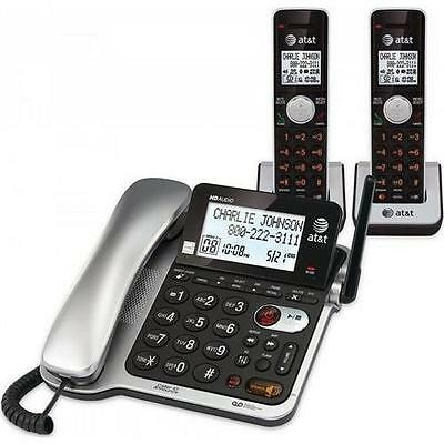 AT&T CL84202 2 Handset Corded/Cordless Answering System with Caller ID/call Wait