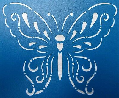 Scrapbooking - STENCILS TEMPLATES MASKS Sheet - Butterfly 03 Stencil