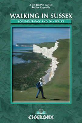 Walking in Sussex: Long distance and day walks by Kev Reynolds Paperback Book Fr