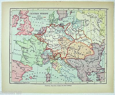 Vintage Longmans Map of Central Europe in 1789