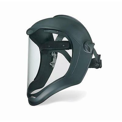 Uvex Bionic Black Matte Faceshield Clear PC Uncoated Visor Lightweight Impact