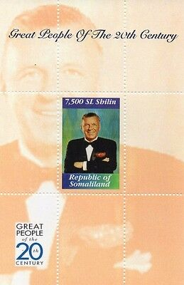 FRANK SINATRA GREAT PEOPLE OF 20th CENTURY SOMALILAND MNH STAMP SHEETLET