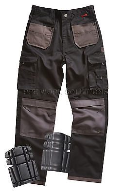 Blackrock Grampian Mens Work Trousers Work Wear Pants **WITH KNEE PADS** (BRGTB)